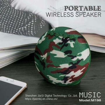Creative fabric bluetooth speaker M198 portable outdoor mini audio sub - loudspeaker adapter card USB FM
