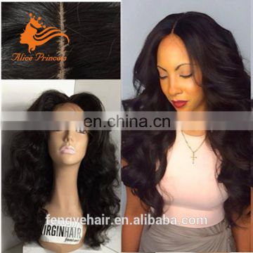 Hot Selling Virgin Brazilian Human Hair Black Color Short bob Wigs 12inch Silky Straight Wave With Bang Lace Front Wig