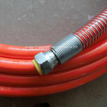 High pressure paint spray hose 1/2 painting hose for airless sprayer red 15 meters