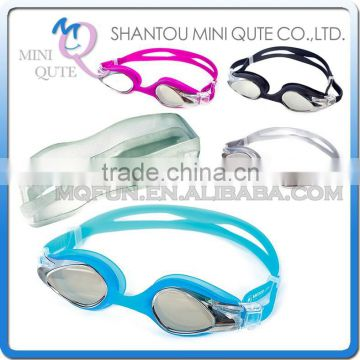MINI QUTE Outdoor Fun & Sports 4 color Adult anti fog fashional Dive swimming goggle face plates mask NO.WMB07002