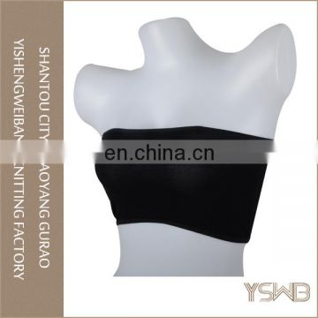 Oem top quality lady tube bra comfortable elastic black bikini tube tops