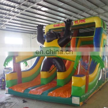best quality cheap inflatable orangutan slide for kids