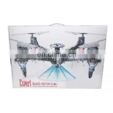 2.4G waterproof children rc drone quadcopter toys with light