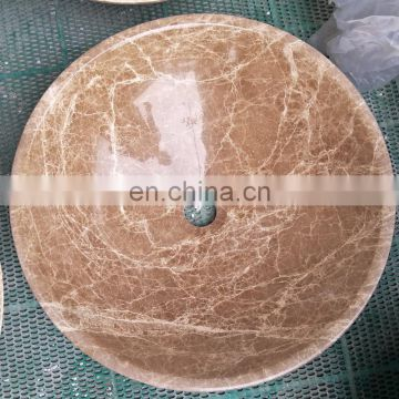Wholesale yellow marble sinks with different shapes