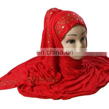 2017 Stole For Casual Party Wear / Fashionable Embroidery Scarves Designs Headscarf / Stretchable Hijab Dupatta