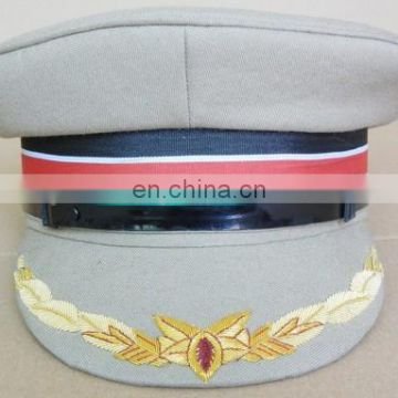light green peaked military hat/uniform cap/dress cap for officers