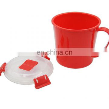 Plastic Microwave Cookware soup cup with clear lid