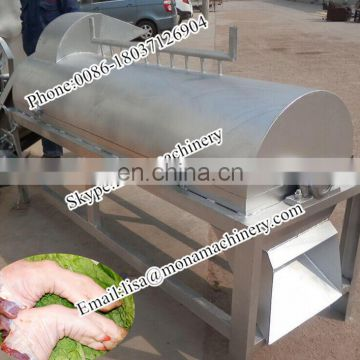 Pig trotter unhairing machine pig feet unhair device