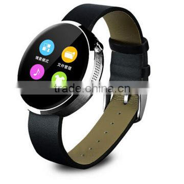 D360 round watch with touch display and heart rate men watch