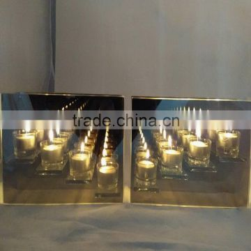Factory outlets Infinity Glass TeaLight Candle Holder Reflective Tea Light Candle Holder/Can be customized