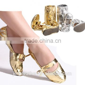 Professional gold/silver belly dance shoes, ballet dancing shoes for women, adults kids flat dance shoes, zapatos de baile latin