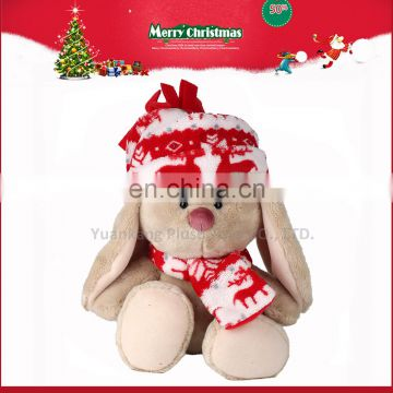 christmas decorating long legs rabbit plush toy