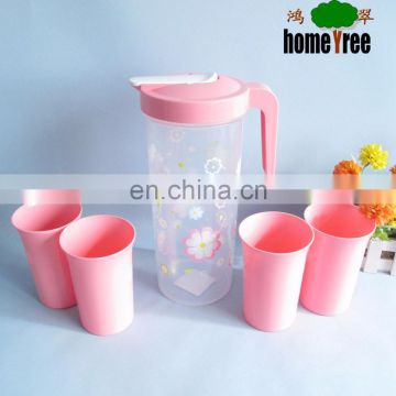 Economical Convenient 2L Water Jug With Cups