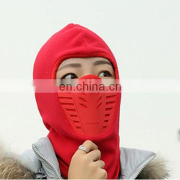 Winter outdoor full face mask warm dustproof beanie hat fleece mask balaclava cap