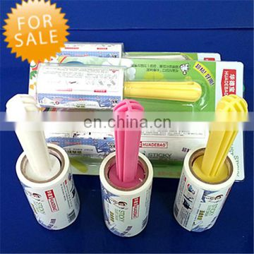 Paper Adhesive Floor Cleaning Roller For Clothes Dust Remove sticky Lint Roller