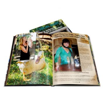 Full color hard cover printing service for books