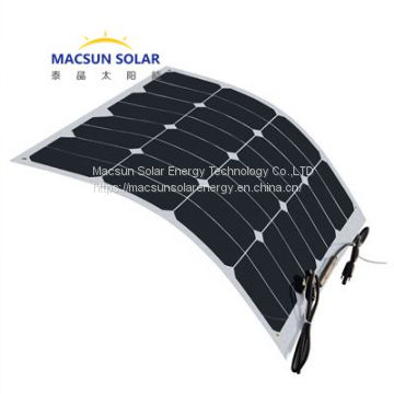 Semi-flexible  Mono Crystalline Solar Modules