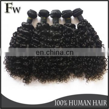 New arrival deep curl darling human hair weaving with full cuticle brazilian peruvian indian virgin unprocessed human hair