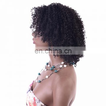 cheap price synthetic kinky curly hair wig for women