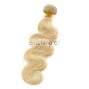 Top quality blonde color brazilian body wave hair