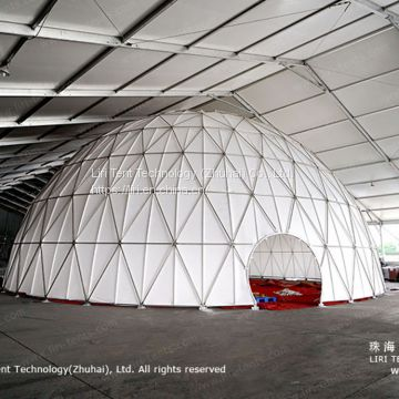 White PVC Geodesic Dome for Light Show