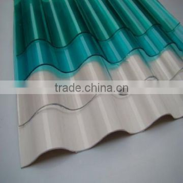 High Strength Cost Effective Clear Plastic Polycarbonate / PC Corrugated Transparent Roofing Sheet for shed / greenhouse