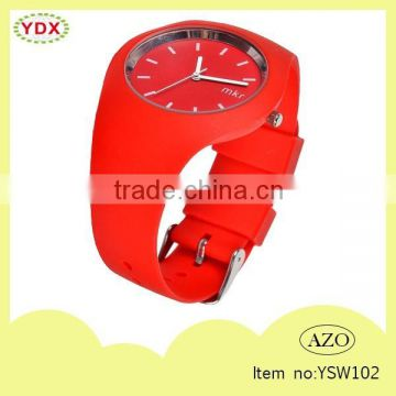 Fashionable waterproof red wristwatches promotion watch                                                                         Quality Choice