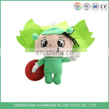 ISO 9001 factory plush stuffed custom cheap doll keychain