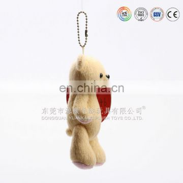lovely design teddy bear keychain ,plush bear keychain