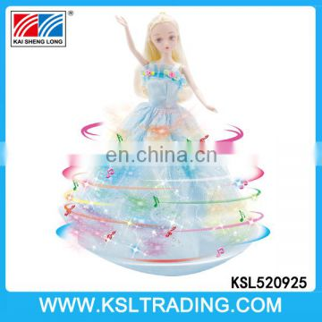 Popular 11.5 inch electric dancing baby toy doll with light and music