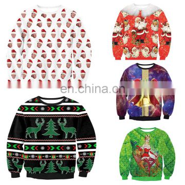 Fashion Christmas Sweater Wholesale Quilted Pullover Jumpers Hoodies Jumpers