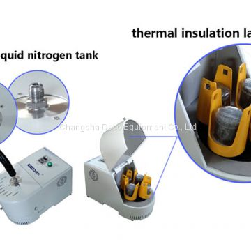 Low temperature, air-cold or cryogenic planetary ball mill for lab