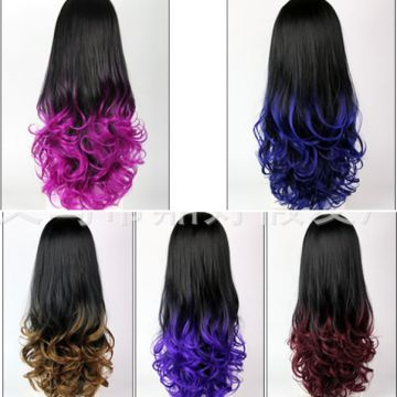 Hotsale cosplay wig anime multi colors in stock