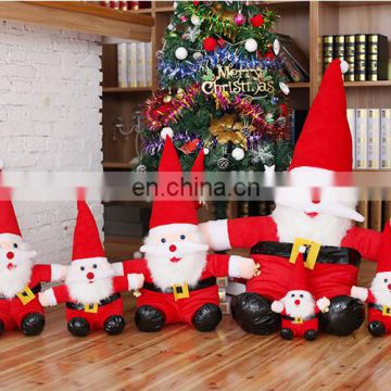 wholesale custom christmas santa claus plush toy cute gift for promotion
