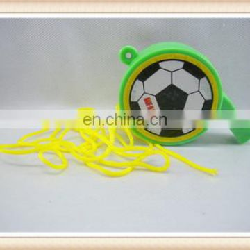 football cheap plastic toy whistle