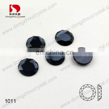 DZ-1011crystal glass stone large round flatback for jewelry making