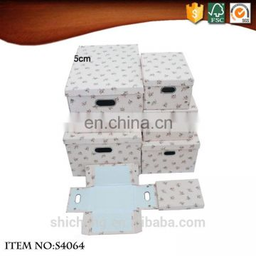 Foldable paper cardboard gift package box with magnet