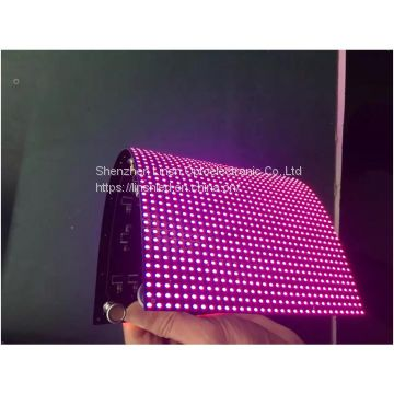P5mm flexible led display Panel,P5mm soft led module With MBI5124 Driving IC and Kinglight Gold Wire with High Refresh