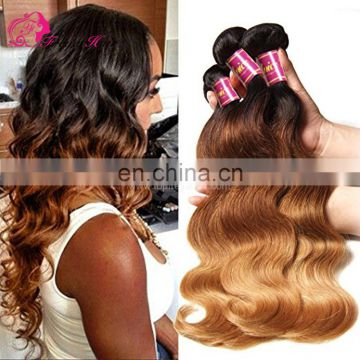 Freya Hair two tone ombre colored hair bundles ombre hair extensions