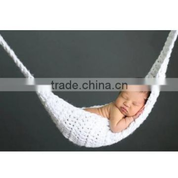 Baby Hammock Photography Props Infant Toddler Crochet Costume Newborn Photo Props 0-3Months 1set