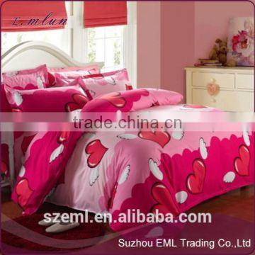 Summer style bedding cotton set twin Full Queen size duvet cover set reactive printed bed linen flat sheet bedclothes