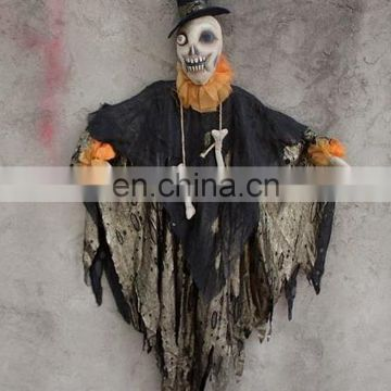Handmade cloth painting Halloween skull doll