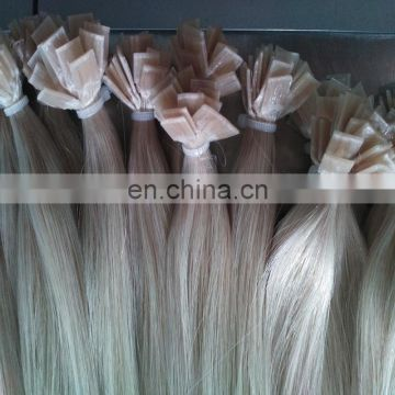 Factory hot sale pre-bonded hair plat tip hair extensions remy virgin russian hair for white women