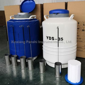6 Liter Liquid Nitrogen Container/Dewar/Tank for Storing Breeding Livestock Semen
