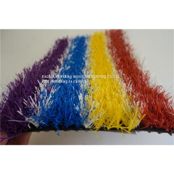 PU latex Colorful Artificial Grass
