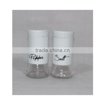 2 pieces mat shinning stainless steel coated glass spice set wholesale online