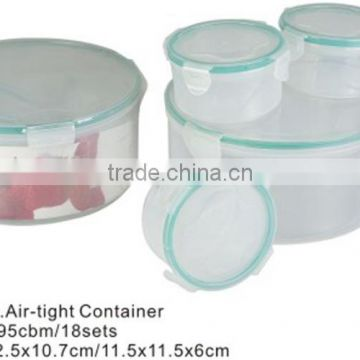 set of 4 round air tight food container TH-735