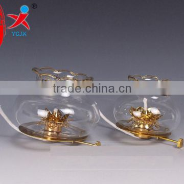 Wind dimmer lamp lamp holder the glass Green smoke-free lamp accessories The lotus lamp holder