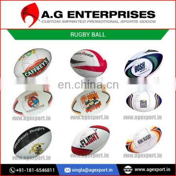 Promotional Cheap Rugby Ball / PU / PVC / Real Leather Rugby Ball Manufacturer