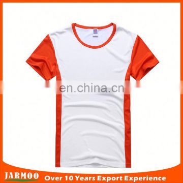 Factory price orange cheap private label t-shirt